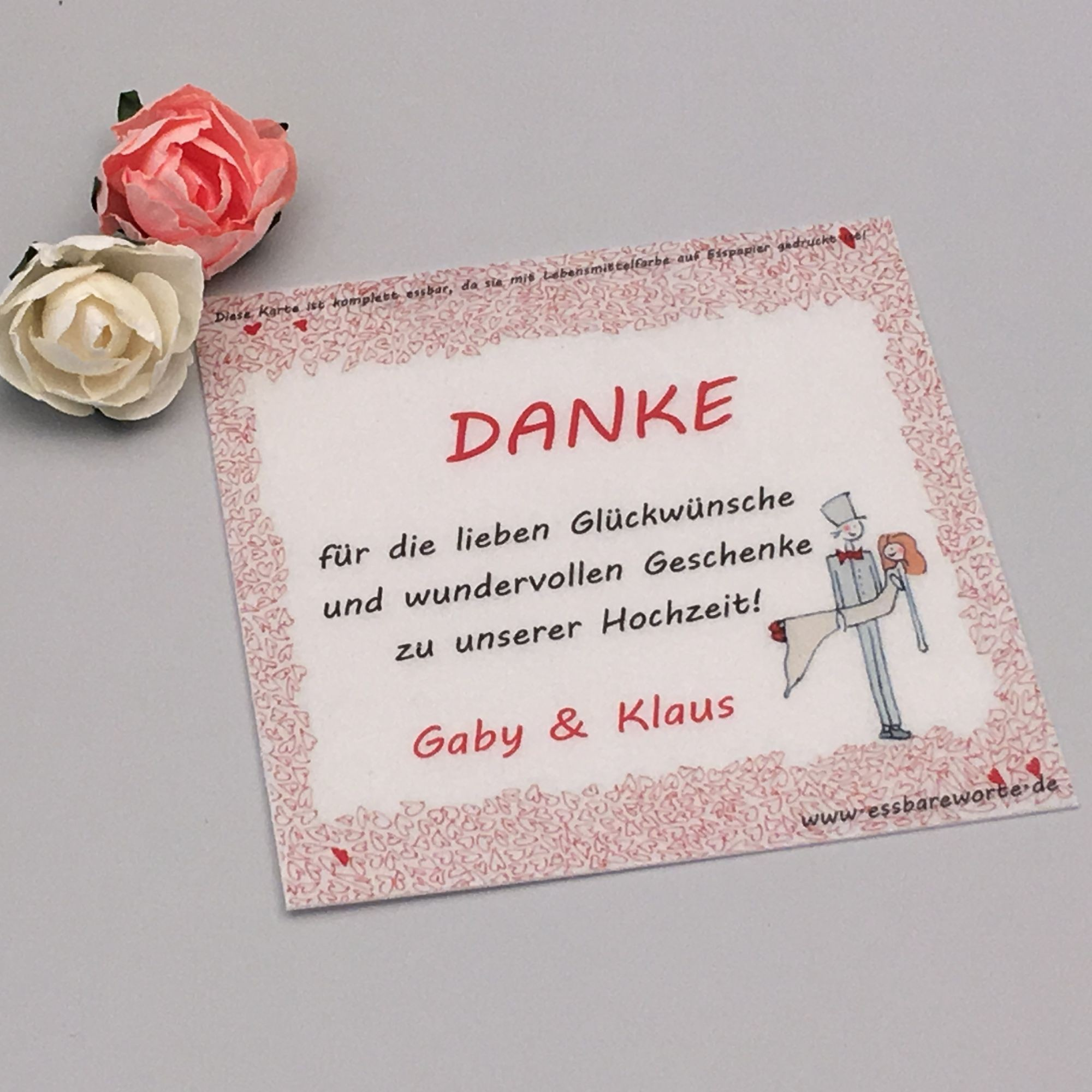 Dankeskarte Zur Hochzeit Mit Brautpaar