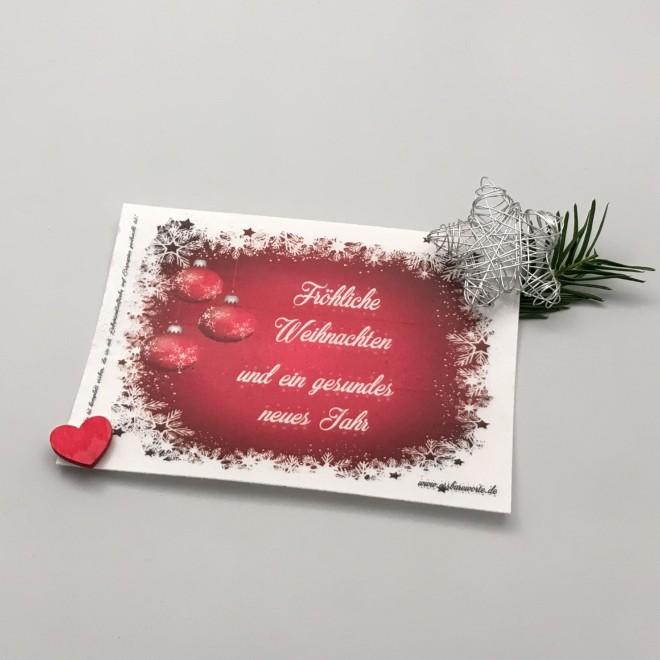Bedruckte Weihnachtskarten Bestellen.Weihnachtskarte Kugeln